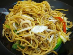 Yakisoba Noodle Recipe..just take out the meat and replace w/ tofu or leave out all together