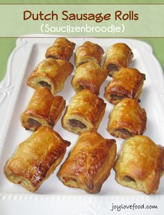 Dutch Sausage Rolls! Growing up we would always get these at the HEMA or the bakeries in The Netherlands! USA needs a HEMA or stores with more Dutch products and ingredients!