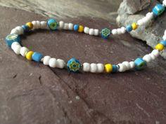 Flower Necklace Hippie Jewelry Beaded Jewelry by TheHippieBohemian, $17.00