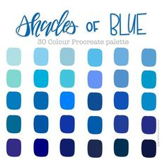 Blue Colour Palette, Colour Schemes, Blue Color Combinations, Blue Shades Colors, Types Of Blue Colour, Blue Color Wheel, Marca Personal, Colour Board, Blue Aesthetic