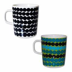 Marimekko Räsymatto Rag Rug Mugs - Click to enlarge