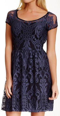 Weston Wear Cap Sleeve Swirl Lace Dress http://www.dubli.com/T0EUBG0S