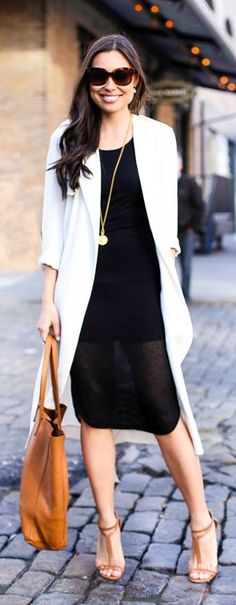 Summer Into Fall, Black, White & Camel style.