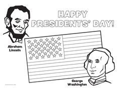 presidents day coloring sheet