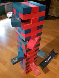 Jello Jenga Shots game comes with 72 piece& block piece& 18 single hole piece& and 18 double holed piece& made by Stylish woodwork. Outdoor Yard Games, Diy Yard Games, Diy Games, Backyard Games, Outdoor Parties, Lawn Games, Backyard Bbq, Wedding Games And Activities, Wedding Party Games