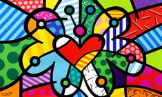 Evolution, by Romero Britto. Romero Britto creates a completely new expression that reflects his optimistic faith in the world around. Arte Pop, Graffiti Lettering Fonts, Graffiti Art, Paper Architecture, Zombie Art, Hippie Art, Pin Up Art, Funny Art, Famous Artists