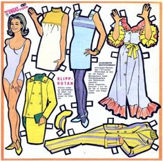 Bewitched paper dolls - I think I had these!