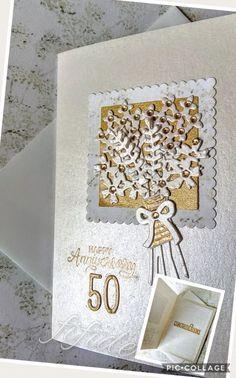 Stampin' Up Beautiful Bouquet Bundle, wedding anniversary card Golden Wedding Anniversary, Happy 50th, Wedding Cards, Stampin Up, Card Ideas, Stamps, Catalog, Scrap, Bouquet