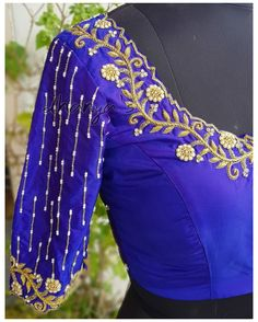 Hand Work Blouse Design, Simple Blouse Designs, Stylish Blouse Design, Bridal Blouse Designs, Blouse Neck Designs, Sleeve Designs, Dress Designs, Brocade Blouse Designs, Blouse Patterns