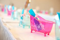 spa p&er party Birthday Party Ideas & A Glitzy u0026 Glam Barbie Spa Birthday Party | Glitzy glam Spa ...