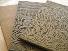 Celie Fago's excellent instructions for making your own carved polymer clay texture plates.