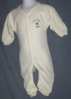 Vikings Baby Football White Snap Up Outfit Size 12M