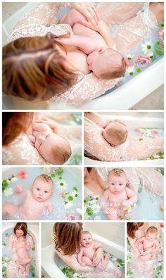 Breastfeeding photography, milk bath, nursing photography