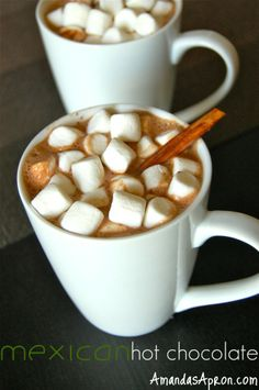 Mexican Hot Chocolate Recipe 3C milk I've used both 2% and almond ...