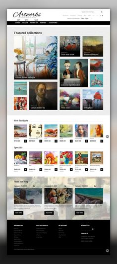 Art Store Responsive Magento Theme E-commerce Templates, Magento Themes, Art & Culture, Art Templates, Art Store Templates Art Store Responsive Magento Theme. Additional features, comprehensive documentation and stock photos are included.