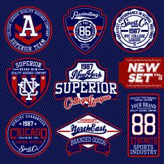 Vintage T shirt labels creative vector material 03
