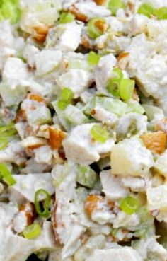 Pineapple-Pecan Chicken Salad Recipe ~ This version has such a nice, refreshing flavor with all the pineapple in it.  Perfect for summer.