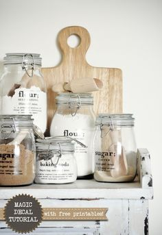 revamp the pantry with creative mason jars #DIY