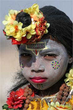 Young Girl at Kumbh Mela, Allahabad.