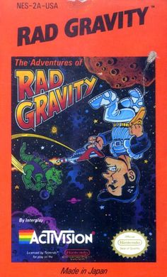 Rad Gravity, The Adventures of - Label or Box Art #nintendo games #gamer #snes #original #classic #pin #synergeticideas #gameon #play #award