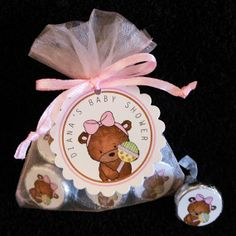 Personalized Hershey Kiss Favor Set baby bear with by susiedees, $25.00