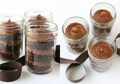 I'm going to try this method to send cupcakes to my kids living far away from home. Overnight mail? Wonder how long they'll stay fresh. Glorious Treats » Chocolate Cupcakes in a Jar.