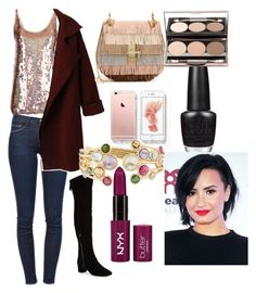 """""""Meeting with Demi"""" by ashleydirectioner2 ❤ liked on Polyvore featuring bellezza, STELLA McCARTNEY, Frame Denim, Nine West, Chloé, Marco Bicego e OPI"""