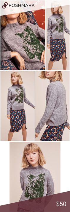"Anthropologie Turtleneck Puppy Pullover NWT Super cute Turtleneck puppy Pullover by Anthropologie ❤️Yarn is Acrylic, Polyester, and Wool. Embroidered eyes and nose detail. Regular Length 22"" Anthropologie Sweaters"