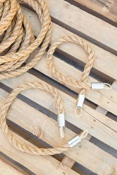 DIY Nautical Curtain Tie Backs Made from Rope