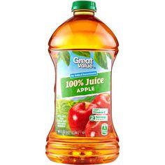 Great Value 100% Apple Juice, 96 oz