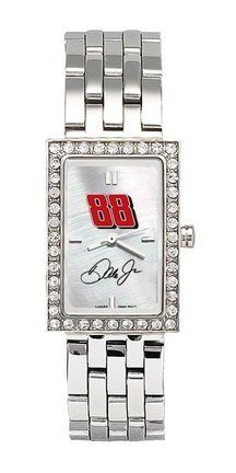 LogoArt Dale Earnhardt, Jr. Ladies Allure Stainless Steel Watch - Dale Earnhardt, Jr One Size by Anderson. $84.99. This dazzling Dale Earnhardt, Jr. Ladies Allure water-resistant stainless watch is powered by a Japanese Miyota(r) movement, has a genuine mother of pearl dial, and is adorned with 40 cubic zirconia. The officially licensed watch displays the driver's car number on the face, and arrives in an attractive designer box. 2 year manufacturer limited warranty.