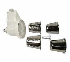 49.95 - KitchenAid RVSA Stand Mixer Rotor Slicer Shredder - White - Includes one rotor slicer/shredder, two slicer cones, two shredder cones, and use and care guide