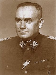 """Friedrich August Jeckeln[1] (2 February 1895, Hornberg, Baden  – 3 February 1946) was an SS-Obergruppenführer who served as an SS and Police Leader in the occupied Soviet Union during World War II. Jeckeln was the commanding SS General over one of the largest collection of Einsatzgruppen and was personally responsible for ordering the deaths of over 100,000 Jews, Slavs, Roma, and other """"undesirables"""" of the Third Reich."""