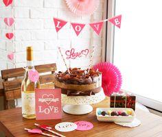 [바보사랑] 발렌타인데이를 더욱 특별하게! /발렌타인데이/여자친구/남자친구/이벤트/사랑/love/Valentine's Day/chocolate/장식/소품/파티/컵받침/카페/케이크/미니픽/이니셜픽/디스플레이/데코레이션