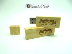Pendrive Wood Slim Bambu - By Mauricio Messa