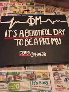 Phi mu/Grey's Anatomy canvas
