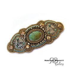 Bead Embroidered Barrette... by RBBeadArtGallery on DeviantArt