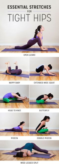 good morning! here are some awesome poses for stretching out those tight hips. try them out!