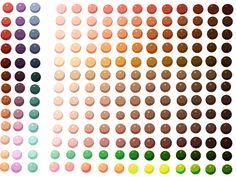 Skin Colour Palette by *Spudfuzz on deviantART