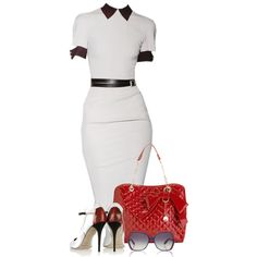 """Sophisticated Dress"" by lamani on Polyvore"