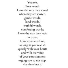 Words alone.