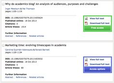 Academic blogging is part of a complex online academic attention economy, leading to unprecedented readership.