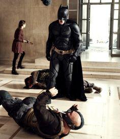 Batman (Christian Bale), Bane (Tom Hardy) and Miranda Tate/Talia (Marion Collitard) in TDKR The Dark Knight Trilogy, The Dark Knight Rises, Batman The Dark Knight, Epic Characters, Dc Comics Characters, Gotham News, Batman Universe, Dc Universe, Batman Christian Bale