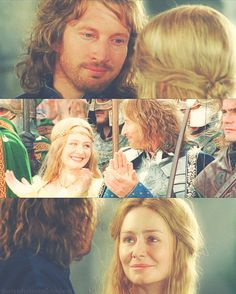 eowyn and faramir ~ eowyn and faramir & eowyn and faramir fanart & eowyn and faramir art & eowyn and faramir quotes Eowyn And Faramir, Aragorn, Legolas, Arwen, The Hobbit Movies, O Hobbit, Fellowship Of The Ring, Lord Of The Rings, Narnia