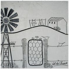 Val du Charron Home Windmill Diy, Dot Art Painting, Diy Arts And Crafts, Art Deco Design, Wire Art, Design Crafts, Creative Inspiration, Canvas Art, Canvas Ideas