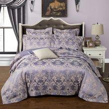 US $107.29 European style mulberry silk bed linen set jacquard satin bedding sets/bedclothes queen king size duvet cover sheet set. Aliexpress product
