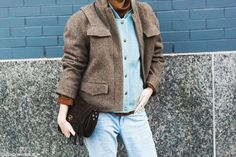 DENIM ON THE STREET @ NYFW 15 - ilovejeans.com