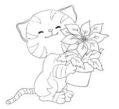 cat color pages printable | DOG AND CAT COLORING PAGES « Free Coloring Pages