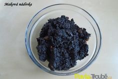 maková nádivka Dessert Recipes, Desserts, Oatmeal, Food And Drink, Pudding, Sugar, Drinks, Breakfast, Syrup