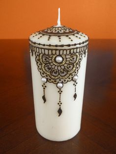 Handcrafted Dreamcatcher Henna Candle / Henna Glitter Candle / Wedding Candles / Party Favors